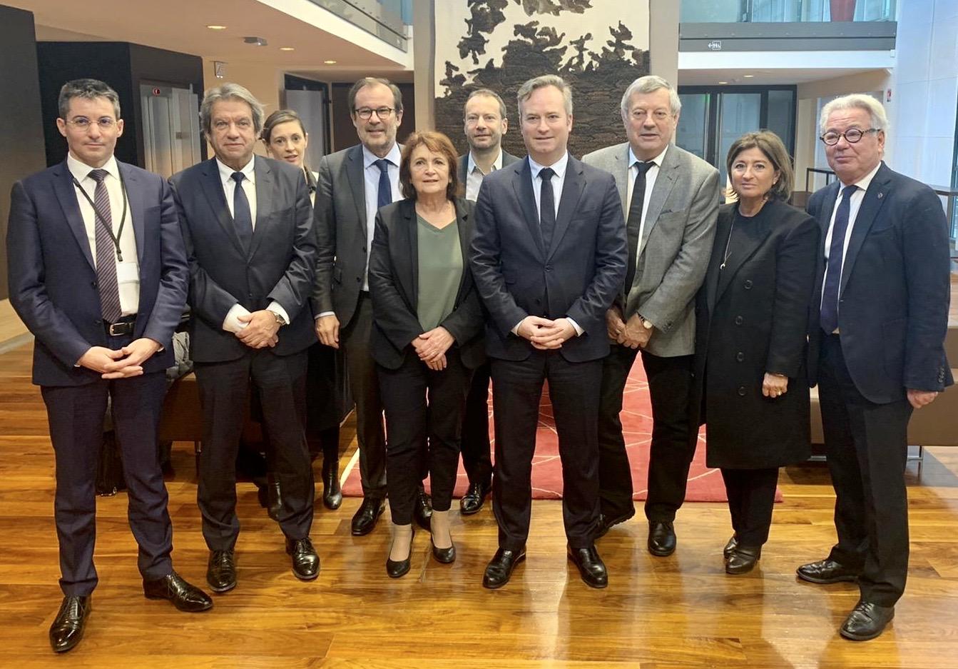 Georges Rudas, Président de l'IFT, au bureau du nouveau comité de filière Tourisme lancé le 16 janvier 2020 par Mr Jean-Baptiste Lemoyne, Secrétaire d'état au Ministère de l'Europe et des affaires étrangères.